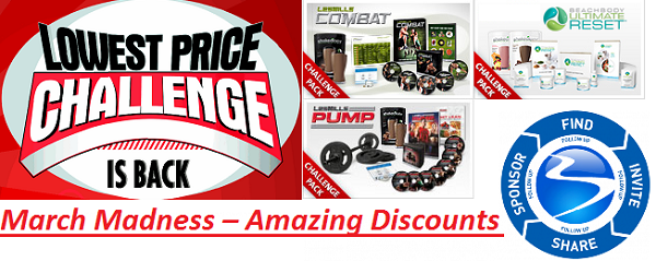 March Madness – Amazing Discounts on Les Mills Challenge Packs and More!