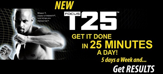 Beachbody focus t25 and nutrition