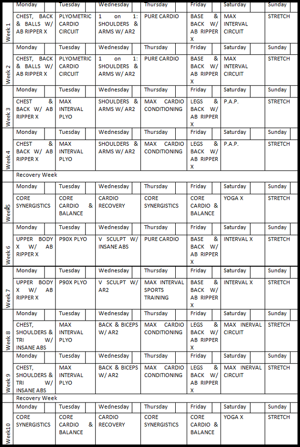 P90X–Insanity–1on1 Hybrid Schedule