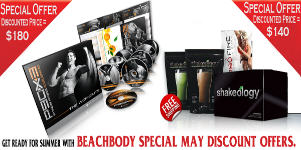 Avail discount on P90x3 & TurboFire Challenge Packs