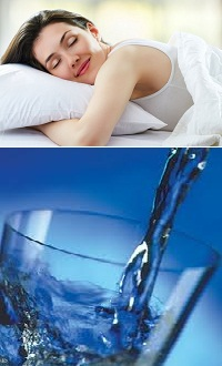 Sleep well and drink plenty of plain water